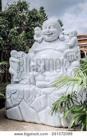 Vietnam, Dalat - November 05, 2017: Statue In Thien Vien Van Hanh In Dalat City In Vietnam.