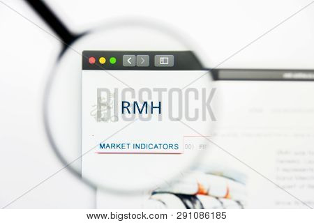 Los Angeles, California, Usa - 23 March 2019: Illustrative Editorial Of Rmb Holdings Website Homepag