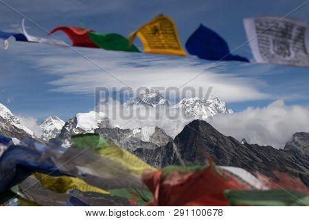 Mount Everest Is Highest Mountain Above Sea Level In Mahalangur Himal Sub Range Of Himalaya.everest