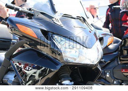 Kazan, Russia, May 26, 2018: Opening Of The Motorcycle Season - Auto-motor Show. Headlights, Taillig