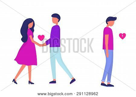 Relationship Problems. Divorce And Treason. Love Triangle. Woman In A Relationship With Another Man.
