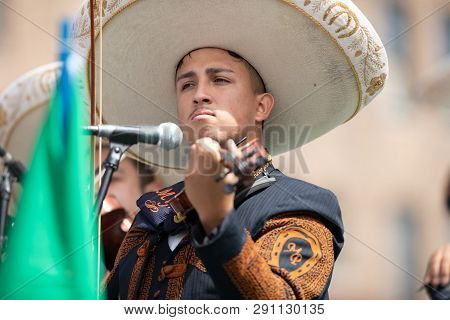 Chicago, Illinois , Usa - September 9, 2018 The 26th Street Mexican Independence Parade, Mexican Men