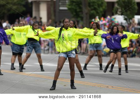 Louisville, Kentucky, Usa - May 03, 2018: The Pegasus Parade, Members Of The Complex Collaboration S