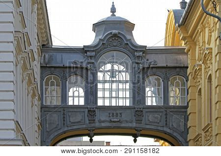 Szeged, Hungary - March 11, 2011: Memorial Bridge Of Sights From 1883 For Franz Joseph King Of Hunga