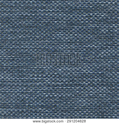 Luxury Blue Textured Genuine Fabric Of High And Natural Quality.