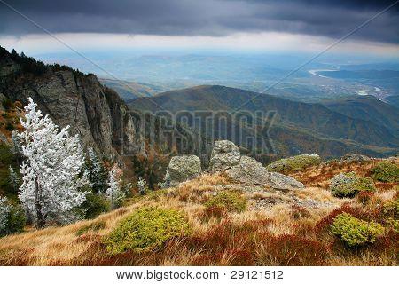 Late autumn in Cozia National Park, Romania, Europe
