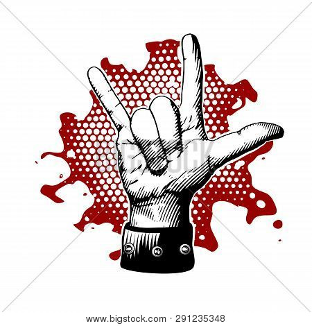 Rock And Roll, Metal Devil Horns Gesture.
