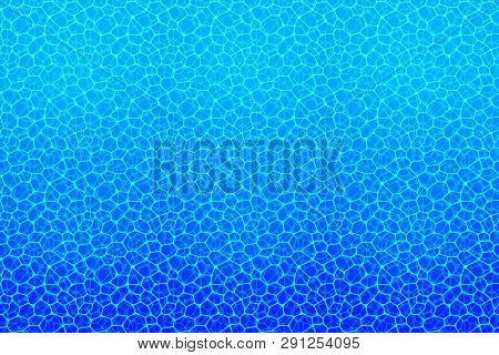 Underwater Background. Water Texture. Vector Illustration With Deep Aqua Surface. Summer, Travel, Ma