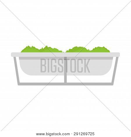 Trough. Trough Feed. Feed. Farming. White Background. Eps 10.