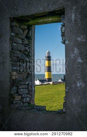 Framed View Of St John's Point Lighhouse