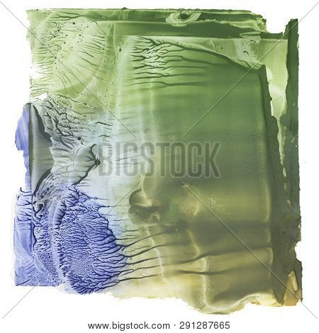 Abstract Marbled Background, Nacre Texture, Blue Marbling Wavy Lines, Artistic Liquid Paint Texture,