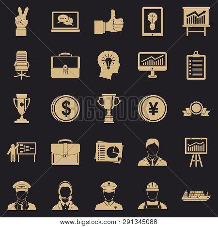 Principal Icons Set. Simple Set Of 25 Principal Vector Icons For Web For Any Design