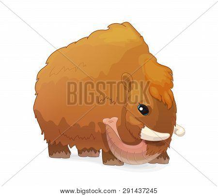 vector cartoon animal clip art woolly mammoth poster