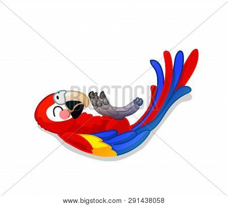 Vector Cartoon Animal Clipart: Ara Parrot, Macaw