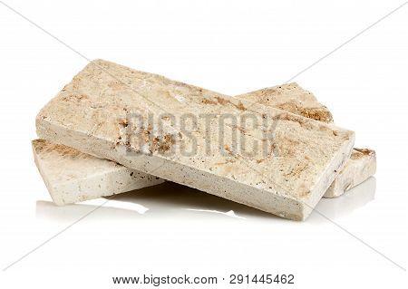Decorative Stone Bricks Isolated On White Background
