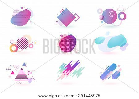 Set Of Abstract Graphic Design Elements. Vector Illustrations For Logo Design, Website Development,