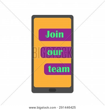 Join Our Team. Business Recruitment Vector Concept. Job Opportunity. Hiring Employee. Social Network
