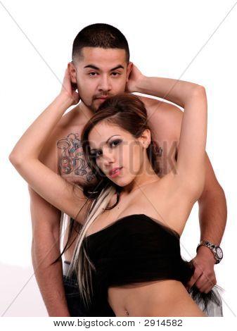 Beautiful Hispanic Couple