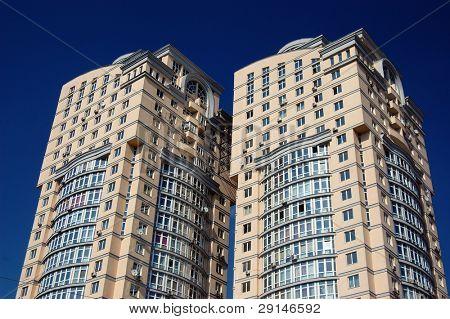 Typical modern residential building in Kiev, Ukraine (Malorussia)