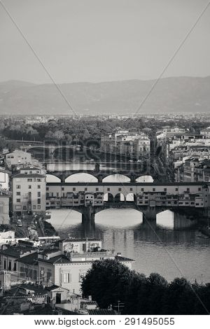 Florence skyline viewed from Piazzale Michelangelo and Ponte Vecchio