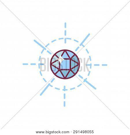 Vector Fleur De Lis Lys Heraldic Symbol With Heart