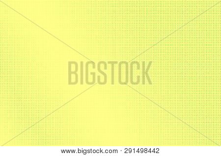 Yellow Green Halftone Vector Background. Pale Dotwork Gradient. Vibrant Dotted Halftone Surface. Ret