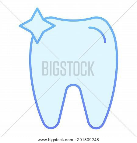 Tooth Flat Icon. Dent Blue Icons In Trendy Flat Style. Dentistry Gradient Style Design, Designed For