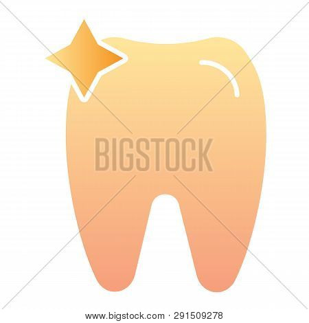 Tooth Flat Icon. Dent Color Icons In Trendy Flat Style. Dentistry Gradient Style Design, Designed Fo