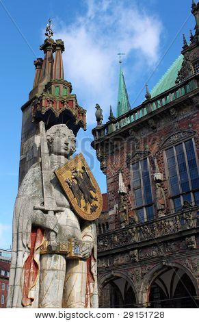 Monument Of Roland In Bremen