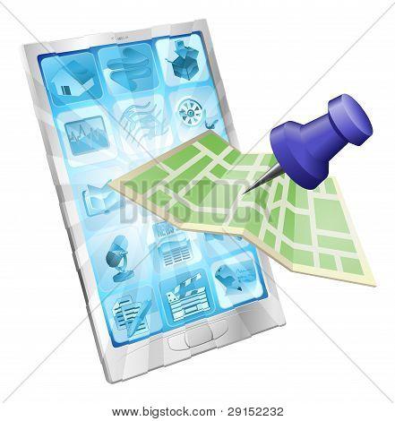 Phone Map App Concept