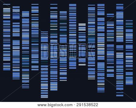 Genomic Data. Dna, Atom, Neurons. Scientific Molecule Background For Medicine, Science Technology Ch