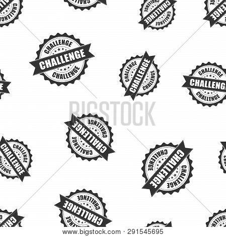 Challenge Rubber Stamp Seamless Pattern Background. Business Concept Vector Illustration. Challenge