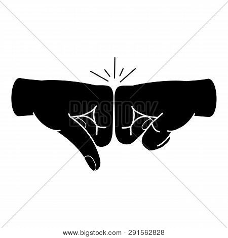Friends Fist Knock Icon. Simple Illustration Of Friends Fist Knock Icon For Web Design Isolated On W