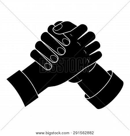 Brotherhood Handshake Icon. Simple Illustration Of Brotherhood Handshake Icon For Web Design Isolate