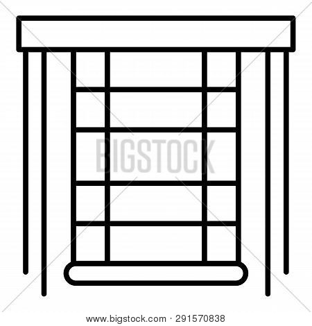 Blind Window Icon. Outline Blind Window Icon For Web Design Isolated On White Background