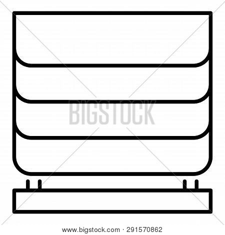 Home Blind Window Icon. Outline Home Blind Window Icon For Web Design Isolated On White Background