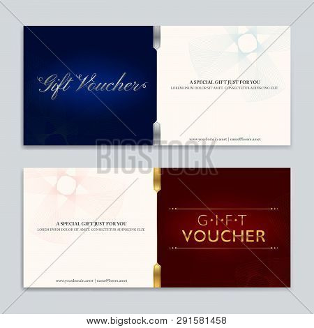 Gift Certificate, Voucher, Gift Card Or Cash Coupon Template In Vector Format