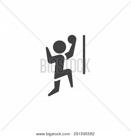 Man Playing Volleyball Vector Icon. Filled Flat Sign For Mobile Concept And Web Design. Volleyball P