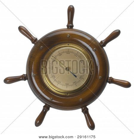 Ship Helms /steering Wheel  Barometer