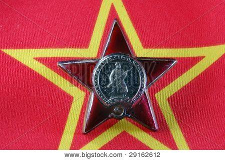 Soviet military award poster