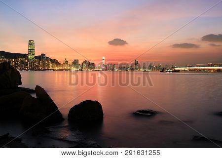 Hong Kong Fishing Valley At Sunset , Lei Yue Mun