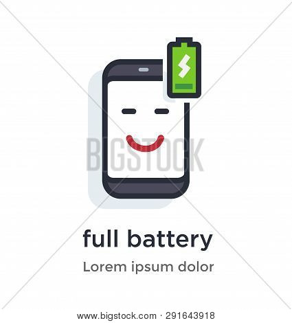 Emotion Phone Charging, Full, Honest, Wireless Illustration Icon. Landing Page Site Print Poster Vid