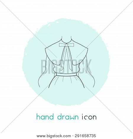 Puritan Collar Icon Line Element.  Illustration Of Puritan Collar Icon Line Isolated On Clean Backgr