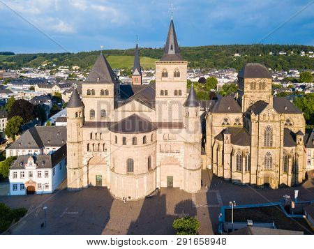 Trier Cathedral Or Trierer Dom St. Peter And Liebfrauenkirche Or Church Of Our Lady In Trier City In