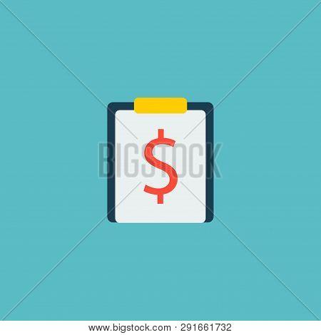 Financial Task Icon Flat Element.  Illustration Of Financial Task Icon Flat Isolated On Clean Backgr