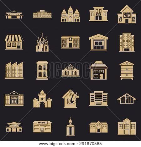 Land Development Icons Set. Simple Set Of 25 Land Development Icons For Web For Any Design
