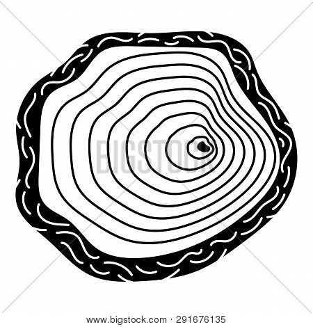 Stump Top View Icon. Simple Illustration Of Stump Top View Icon For Web Design Isolated On White Bac
