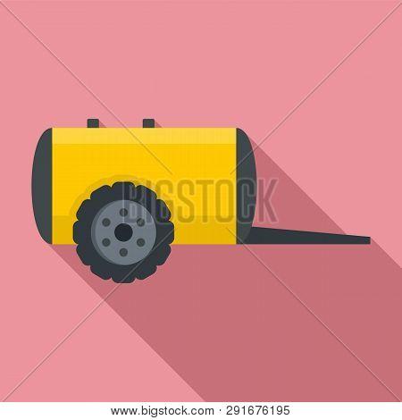 Farm Trail Cistern Icon. Flat Illustration Of Farm Trail Cistern Vector Icon For Web Design