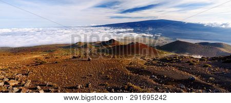 Breathtaking View Of Mauna Loa Volcano On The Big Island Of Hawaii. The Largest Subaerial Volcano In