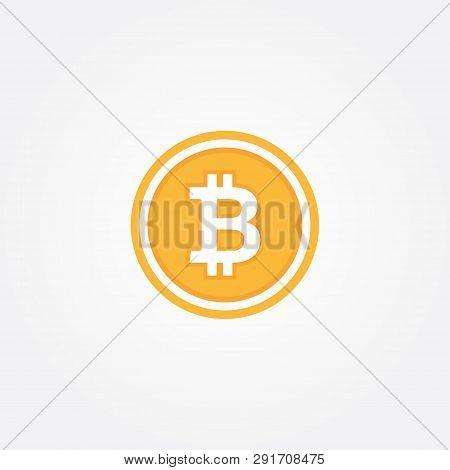 Bit-coin Symbol In Flat Design Vector